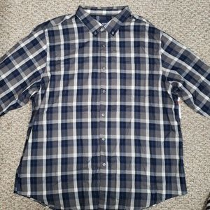 Patterned Button Down Tee